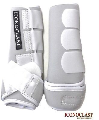 Iconoclast Orthopedic Sport Boots Front Legs Medium White New Free Shipping
