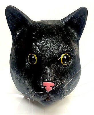 All Black Cat Mask Halloween Witches Cat Fancy Dress Feline Costume Animal Pet](All Black Cat Costume)