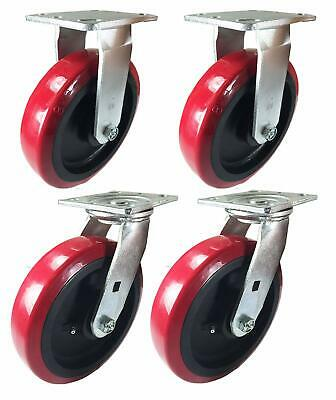 A Set Of 4 Casters Polyurethane On Plastic 4 5 6 8