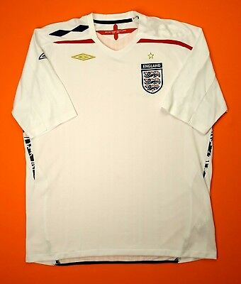 edcf140a63c England soccer jersey 2XL 2007 2009 home shirt football Umbro ig93