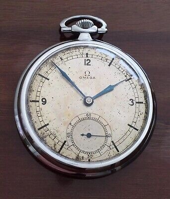 Vintage OMEGA Pocket Watch Sector Dial Cal 38.5L.T1 Serviced