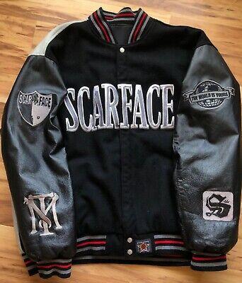 Vintage Scarface JH Design Group Tony Montana Polyester/Leather Jacket Size 4XL