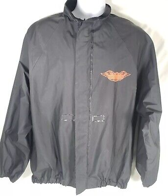 Harley Davidson HD Rain Jacket Wet Weather Waterproof PVC Size Medium