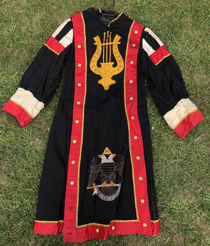 Vtg Masonic 32nd Degree Scottish Rite Freemasonry Regalia Robe Uniform Costume