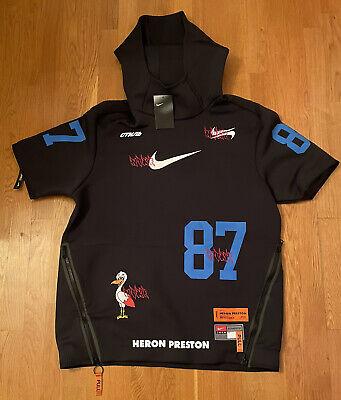 Nike Heron Preston SS Pullover Hoodie Jacket Black Mens Large L CI2975-010