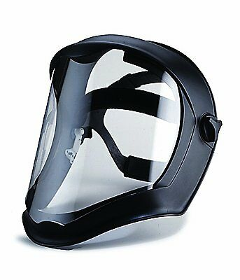 Uvex S8510 Bionic Shield Black Matte Face Shield Clear Polycarbonate Anti-fog