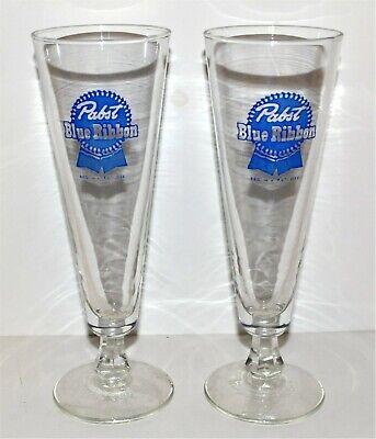 PABST BLUE RIBBON PILSNER BEER GLASSES