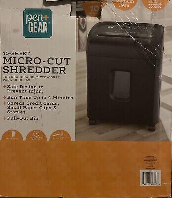 Pen Gear Wm1055xb 10-sheet Micro Cut Paper Shredder Model