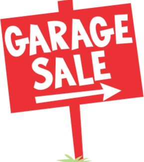 CHEAP GARAGE SALE THIS SATURDAY!