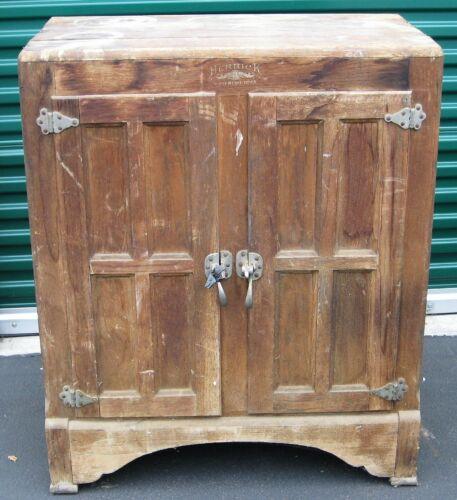 Antique Herrick Waterloo, Iowa Oak Ice Box to Refurbish