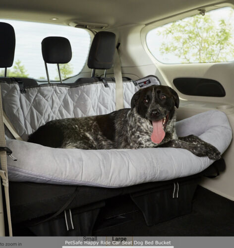 New PetSafe Happy Ride Car Seat Dog Bed Bucket Size Large, Gray