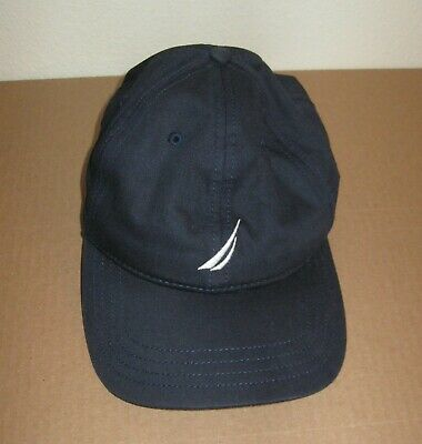 Nautica navy blue baseball cap hat OS adult adjustable