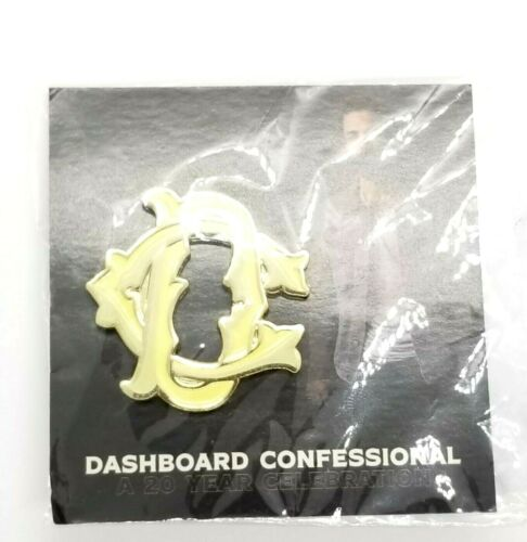DC Dashboard Confessional A 20 Year Celebration Enamel Collectible Lapel Pin NIP