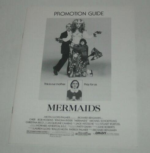1990 MERMAIDS PROMO MOVIE PRESSBOOK CHER WINONA RYDER CHRISTINA RICCI COMEDY