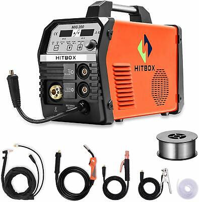Mma Lift Tig Mig Welder Inverter 200a 220v Gas Mag Gas Gasless Welding Machine