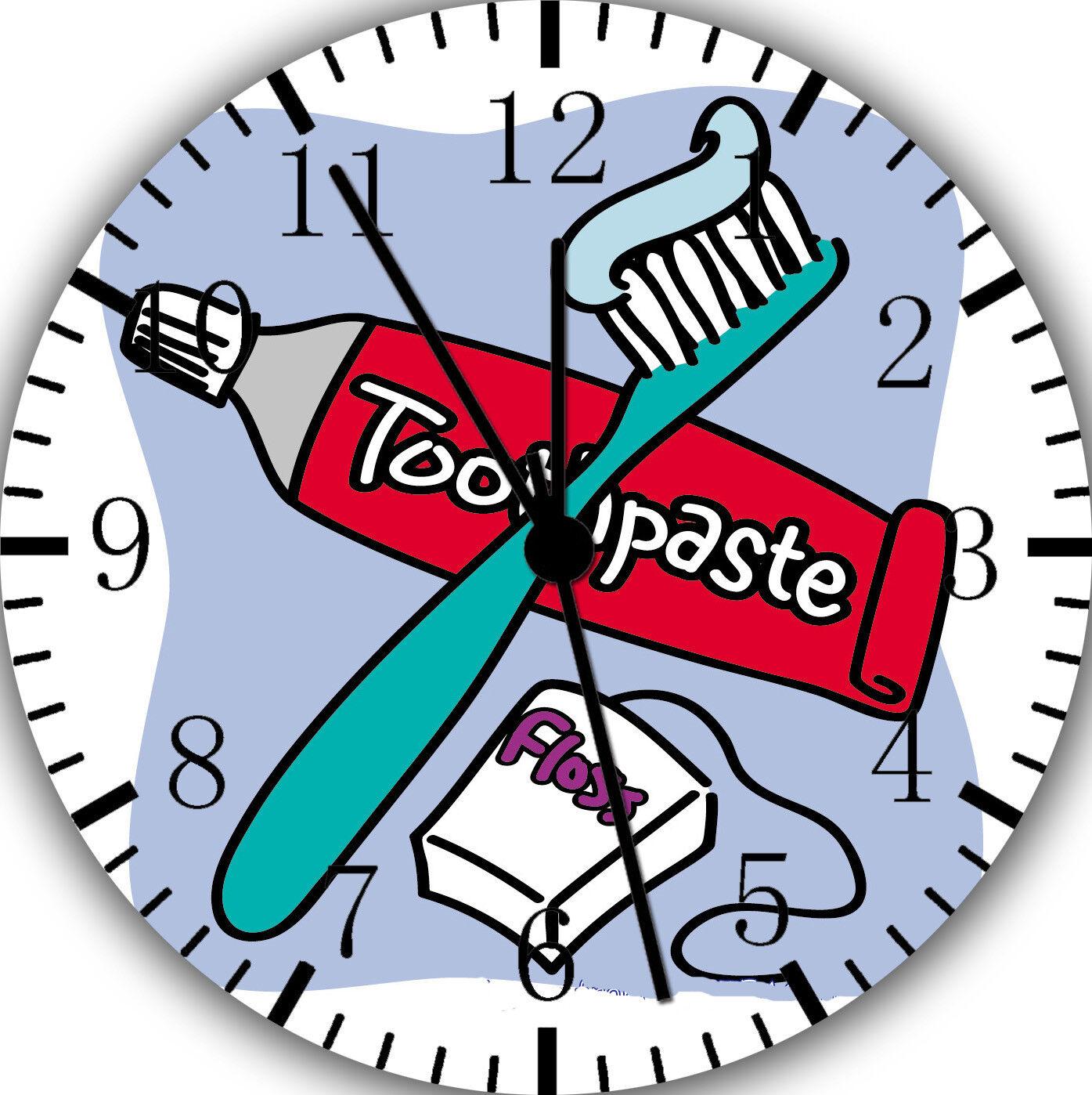 Zahnbürste und Zahnpasta Frameless ohne Grenzen Wanduhr Schön für Geschenke W27