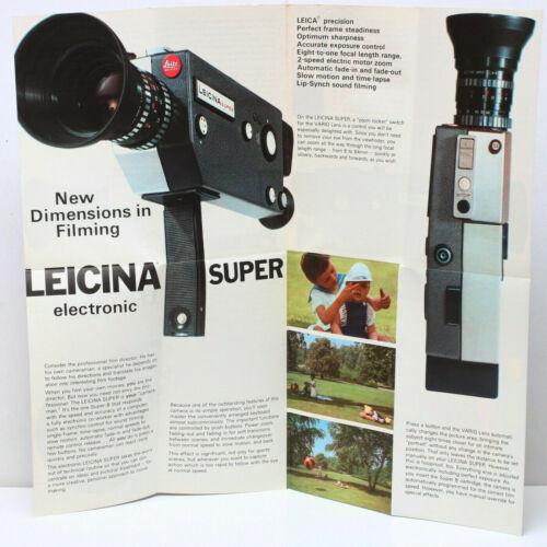Leitz Wetzlar Leica Leicina Super Electronic Sales Brochure Fold Out / RARE