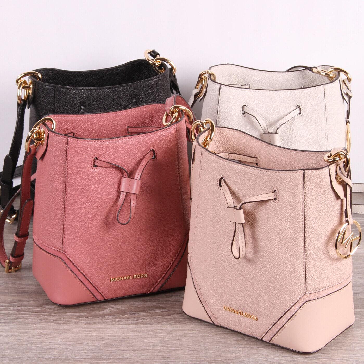 Michael Kors NICOLE Small Bucket Leather Drawstring Bag Cros