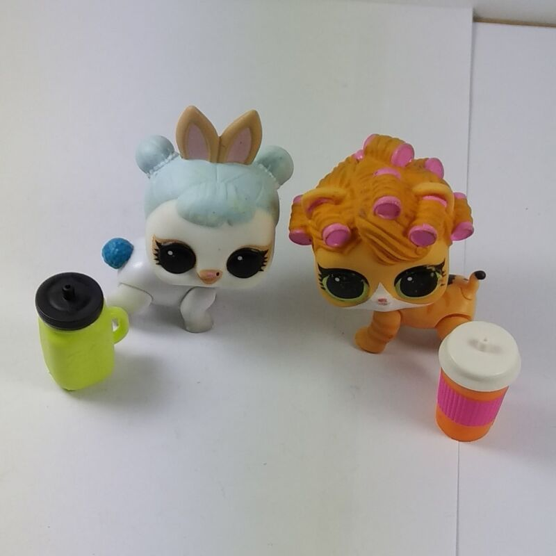 2pcs LOL Surprise Pets Doll Animals Big Sister Waves+Spicy Kitty Cat Girl Gift
