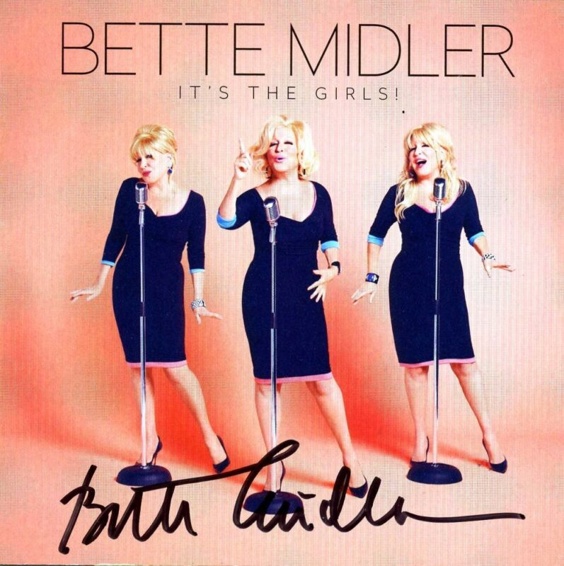 """Autographed Bette Midler """"It's The Girls"""" CD Signed"""