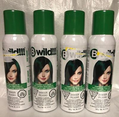 Jerome Russell B Wild Temp Hair Color 100 mL 3.5 oz Green St Patty's Day 4pc Lot](St Pattys Day Hair)