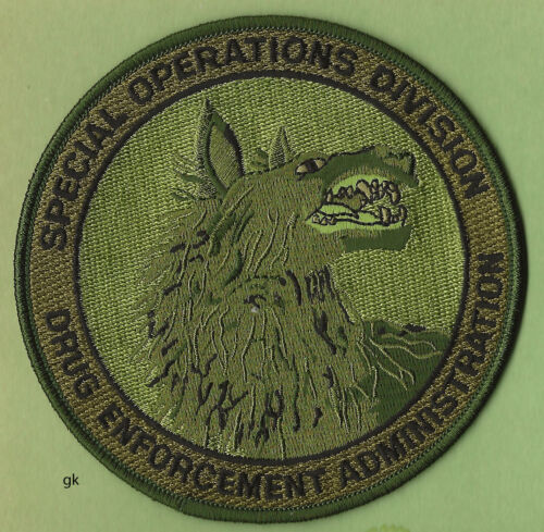 DEA DRUG ENFORCEMENT ADMINISTRATION  SPECIAL OPERATIONS SUBDUED GREEN wolf