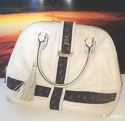 Lamb by Gwen Stefani Off White & Blue Leather Handbag