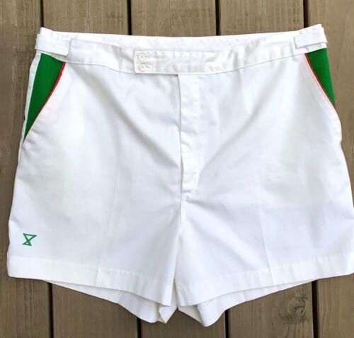 Vtg ~ Alexander Shields Jockey 70s White Tennis Shorts ~ mens 36