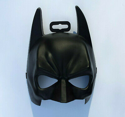 BATMAN MASK BLACK PLASTIC HALF FACE ELASTIC STRAP BAT MAN One Size Fits Most DC - Bat Man Masks