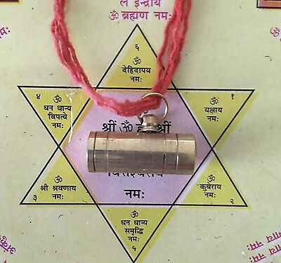 TEMPLE ENERGIZED LAXMI KUBER MAHA KAVACH AMULET - WEALTH MONEY DRAWING RICHES