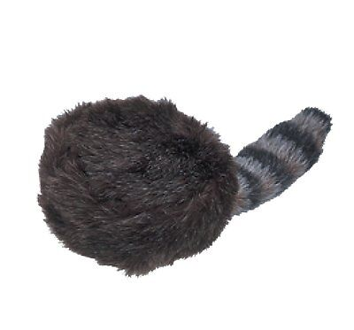 Jacobson Hat Company Child's Coonskin Hat with Artificial Tail, Black, Large