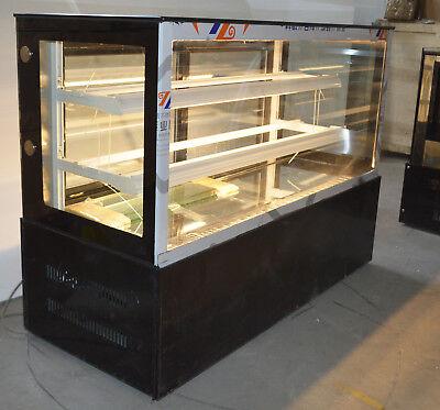 Commercial 220v Bakery Showcase Refrigerated Cake Display Case Opened Back Door