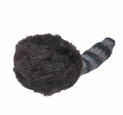 Jacobson Hat Company Child's Coonskin Hat with Artificial Tail, Black, Medium