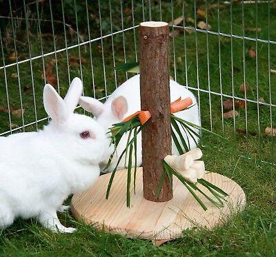 Futterbaum Futterhalter f. Nager Kaninchen Hasen Gemüsehalter Möhrenhalter