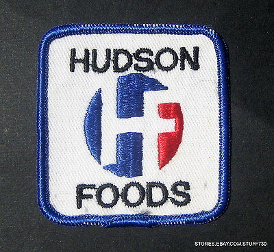 Hudson Foods Embroidered Sew On Patch Tyson Foods Advertising 2 1 2  X 2 7 8