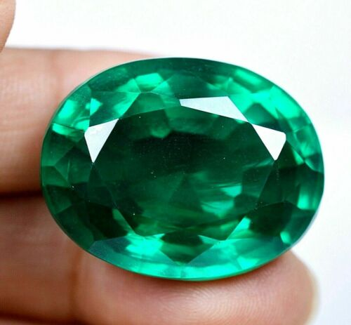 VVS 55.95 CT Colombian Natural Green Emerald CERTIFIED Loose Gemstone GS0308