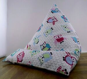 iPad tablet cushion Bean bag stand support for tablets kindle ipad books owl
