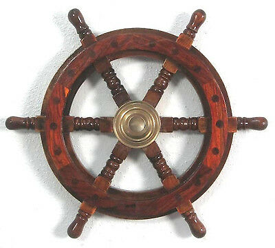 Schiffssteuerrad Maritim Boot Steuerrad Piraten Schiff Schiffsrad Holz Messing