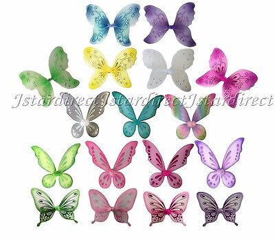 Fairy Wings Butterfly TinkerBell Pixie Dress Up Costume Double Layer Quality  - Butterfly Costume