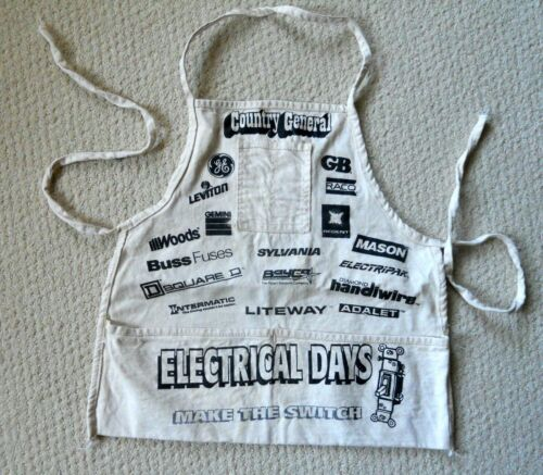 Vintage Hardware Store Work Apron Country General, Electrical Ads