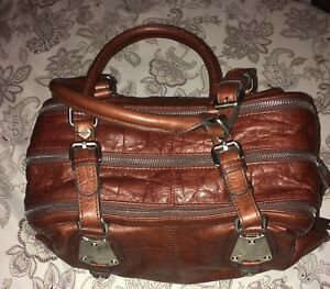 Handbag croc leather B Makowsky