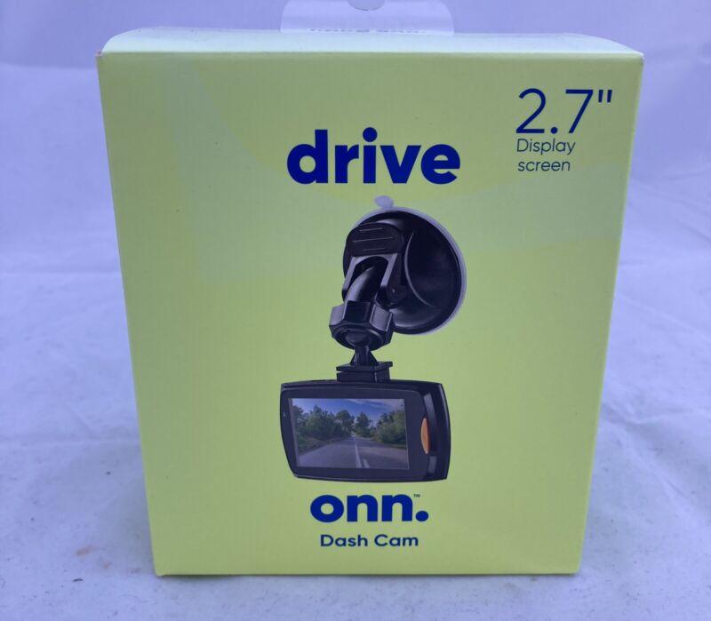 "Onn Dash Cam 2.7"" Display Screen - With Screen - High resolution 1080P"