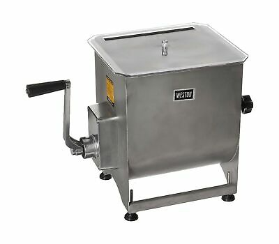 Weston Stainless Steel Meat Mixer 44-pound Capacity 36-2001-w Removable M...