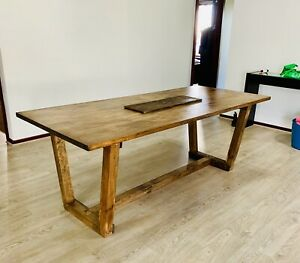 Large timber dinning table