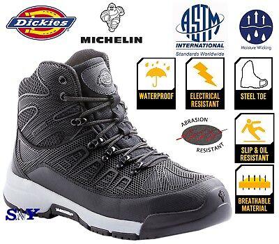 Work Shoe Waterproof Steel Toe LightWeight Slip Oil Electrical Resistant Boot dk