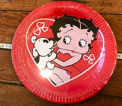 Vintage Betty Boop Paper Party Plates (16) NOS (Vintage Paper Plates)