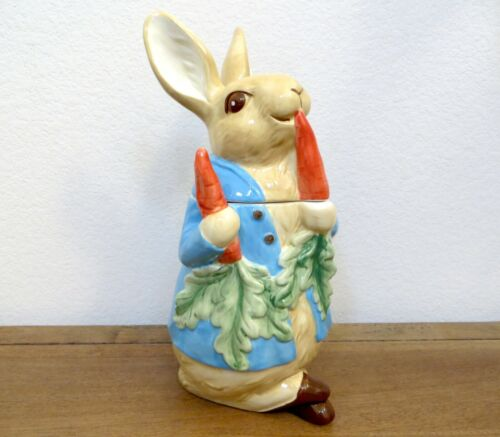 NEW - Williams Sonoma - Peter Rabbit Cookie Jar (Easter, Spring, Bunny)
