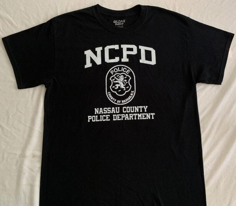 NCPD Nassau County T-Shirt Sz L Long Island New York NYC NYPD