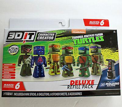 3DIT Character Creator Teenage Mutant Ninja Turtles Deluxe Refill Pack makes 6