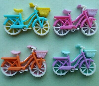 BIKE RIDE Bicycle Pushbike Basket Girl Lady Transport Dress It Up Craft Buttons (Dress Up Transporter)